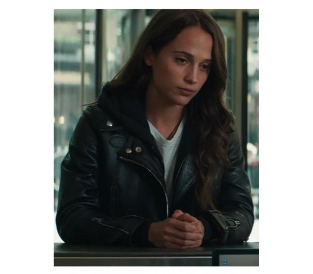 Alicia Vikander Tomb Raider: Tomb Raider Alicia Vikander Leather Jacket Is The Best