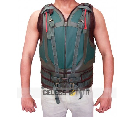 BANE LEATHER VEST MOVIE THE DARK KNIGHT RISES
