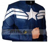 New Captain America Winter Soldier Real Leather Jacket