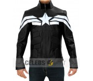 Captain America Winter Soldier Jacket - Black Leather
