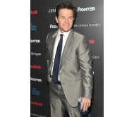 Golden Globe Mark Wahlberg Light Gray Shiny Suit