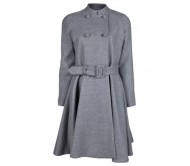 Jennifer Lopez Grey Wool Coat