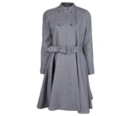 Jennifer Lopez Grey Wool Coat