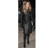Jennifer Lopez Long Leather Coat