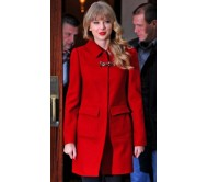 New York City Hotel Taylor Swift Bright Red Jacket