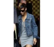 Rihanna Denim Gazette Jacket