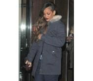 Rihanna Grey Chanel Collar Long Jacket