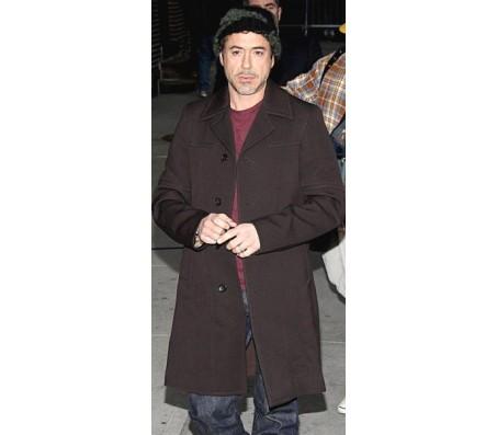 Robert Downey Jr. Brown Long Coat