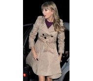 Taylor Swift Beige Trench Coat