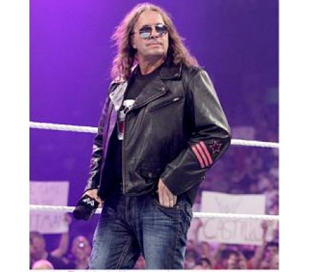The Hitman Bret Hart Leather Jacket