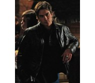 Damon Salvatore Vampire Diaries Real Leather Jacket