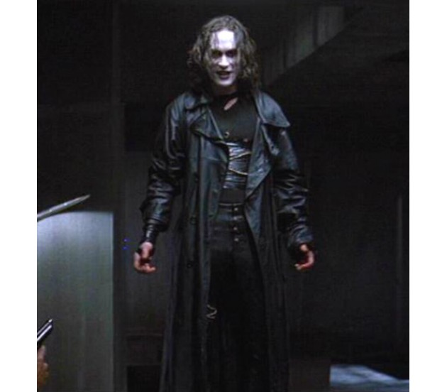 Great Real Long Leather Jacket | Eric Draven Jacket – free Shipping