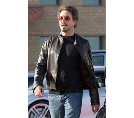 Tony Stark Iron man Real Leather Jacket
