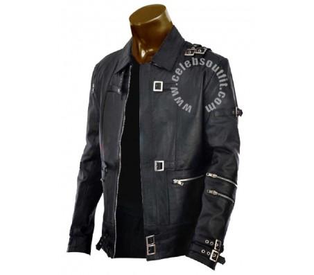 Michael Jackson BAD Black Leather Jacket