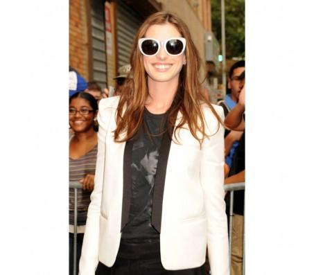 Anne Hathaway White Blazer