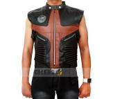Hawkeye The Avengers Black & Brown Leather Vest