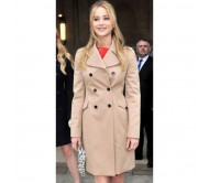 Classic Camel Jennifer Lawrence Trench Coat