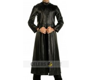 Matrix Trench Real Leather Coat