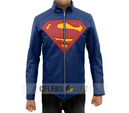 Blue Man of Steel Leather Jacket