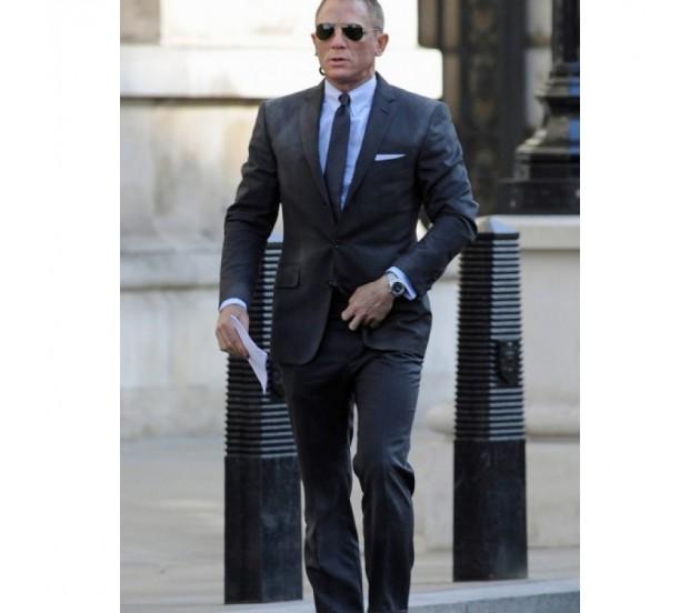 Blue James Bond Casino Royale Pinstripe Suit