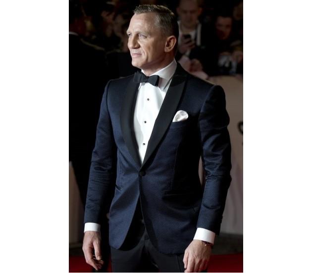 James Bond Tuxedo - Skyfall Midnight Blue Tuxedo Suit Sale |James Bond Suit Skyfall